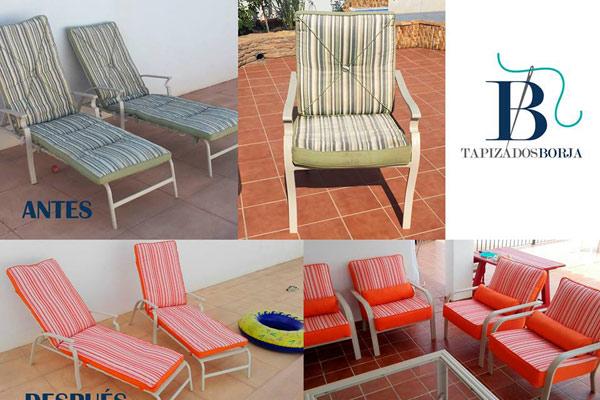 tapizados muebles terraza jardin